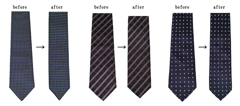 ネクタイ幅詰め